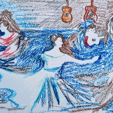 Evelyn Beliveau, Image 3 Zoom Visualization 4/20, pastel on paper