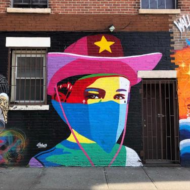 Solus, Mural, New York City on Kenmare street