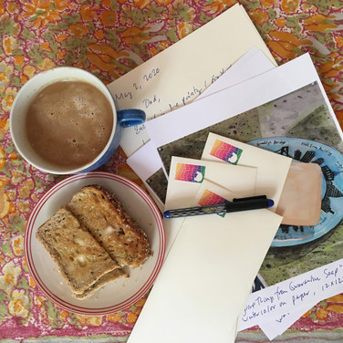Meridith McNeal, More Morning Letter Writing, 2020, photograph