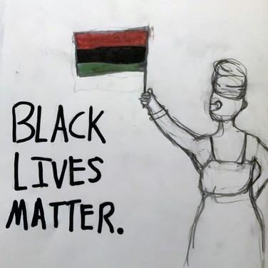 Sigrid Dolan, Black Lives Matter, Pencil and Marker on paper