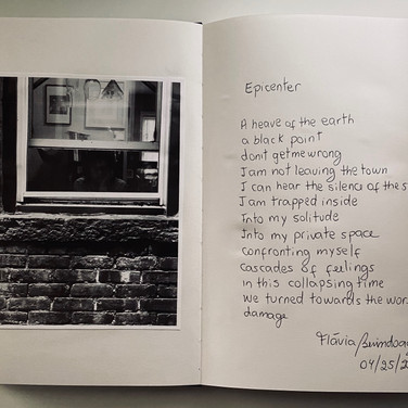 """Flávia Berindoague, """"poems and pictures from my diary of an artist in quarantine"""" 1, 2020"""