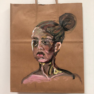 Claudia Alvarez, Painted Object, Bag for Food Drive