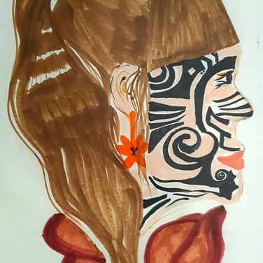 Sarah Gumgumji, Angelica Portrait 3, Advanced Studio Zoom, Apr. 27, 2020