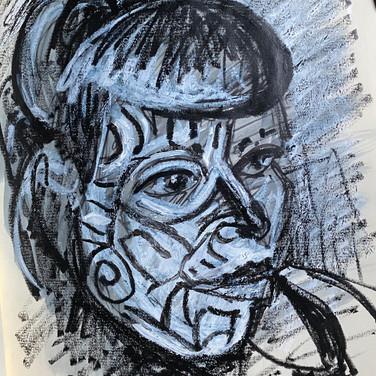 Marie Roberts, Angelica Portrait 2, Advanced Studio Zoom, Apr. 27, 2020