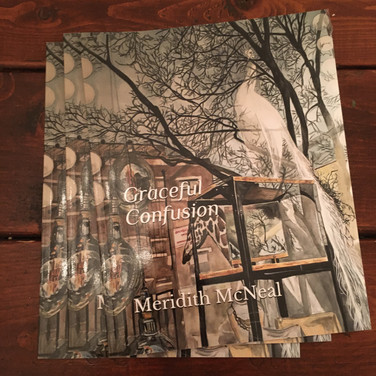 """Meridith McNeal, """"Graceful Confusion catalogues for exhibition postponed by pandemic"""", 2020, photograph"""