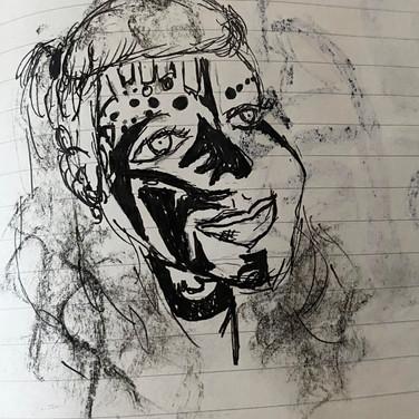 Assata Benoit, Angelica Portrait 2, Advanced Studio Zoom, Apr. 27, 2020