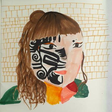 Sarah Gumgumji, Angelica Portrait 2, Advanced Studio Zoom, Apr. 27, 2020