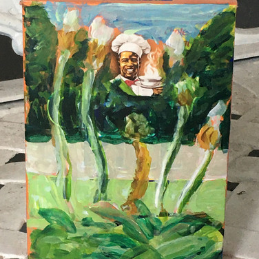 Jane Huntington, Food Justice and Reform, Painted Object Sculpture, paint on cereal box
