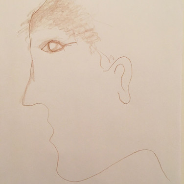 Wayne Gross, Guided Visualization (a guest), 2020, colored pencil on paper