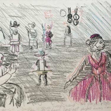 Jane Huntington, Image 3 Zoom Visualization 4/20, crayon on paper