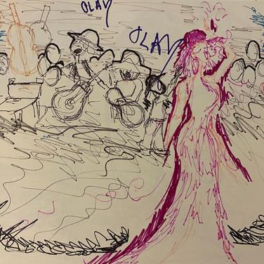 Fatima Traore, Image 3 Zoom Visualization 4/20, marker on paper