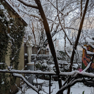Randall Harris, Figureworks Garden in Winter