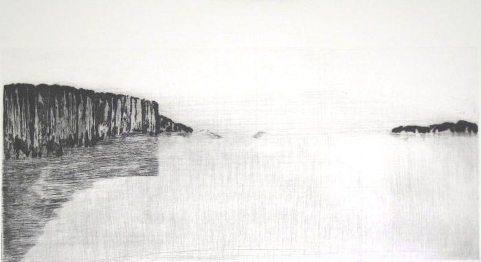 """LUCE, Dans Les Silences II, 2001, etching, 2/12, 7x15.25"""""""