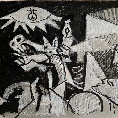 Marie Roberts, Drawing of Guernica, Advanced Studio Memorial Day