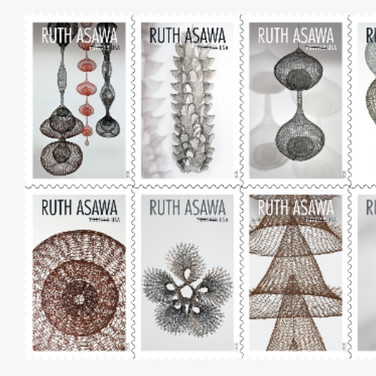 USPS upcomming stamp issue celebrating the artwork of Rush Asawa!