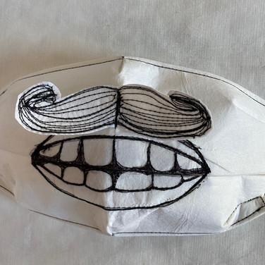 Mask by Figureworks artist Arlene Morris