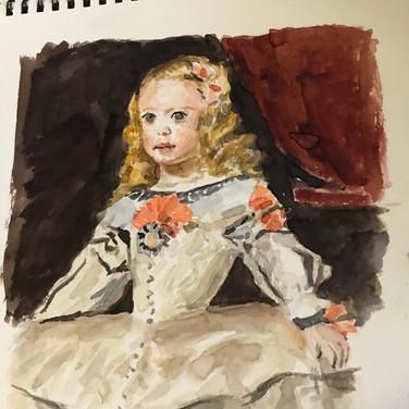 Felix Plaza, Figure Painting, 2020, watercolor in sketchbook