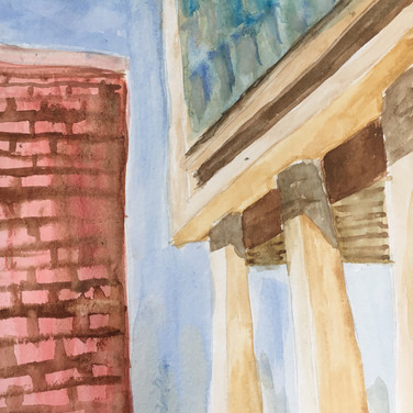 """Jane Huntington, """"The High Line"""", 2020, watercolor on paper"""