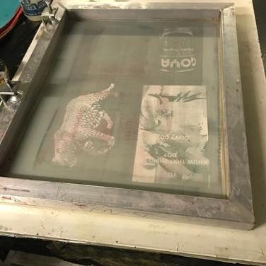 Felix Plaza, Silk Screen printing set up