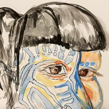 Fatima Traore, Angelica Portrait 2, Advanced Studio Zoom, Apr. 27, 2020