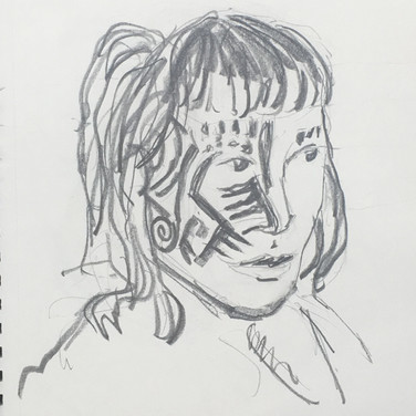 Jane Huntington, Angelica Portrait 2, Advanced Studio Zoom, Apr. 27, 2020