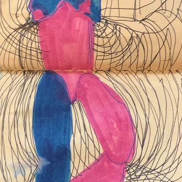 "Vera Tineo, ""How our bodies create different forms of communication"", 2020, ink on paper"