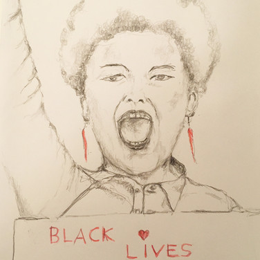 Wayne Gross, Black Lives Matter, 2020, pencil on paper