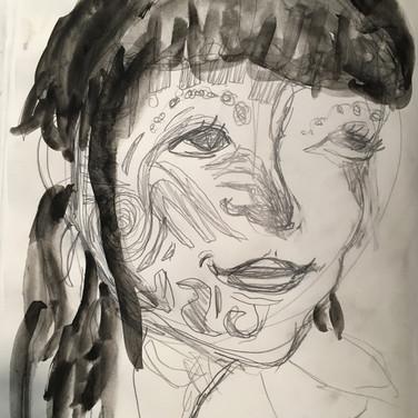 Sigrid D., Angelica Portrait 2, Advanced Studio Zoom, Apr. 27, 2020