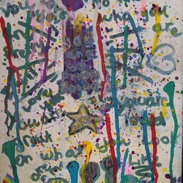Jack Brokaw, Mental Health - Body Image, Study for Painted Sculpture, paint and ink on canvas