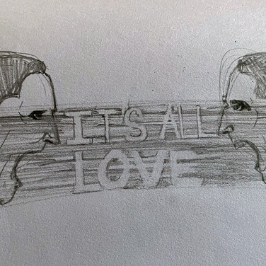 Ardelia Lovelace, It's All Love 2, 2020, charcoal pencil on paper