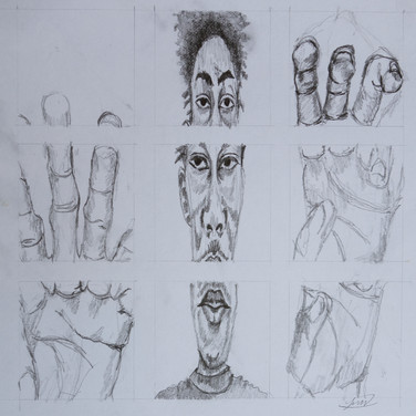 "Jeffrey M, ""Fractured Self Portrait"""