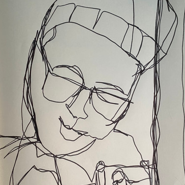 Marie Roberts, Contour Portrait, Advanced Studio Zoom May 4, 2020