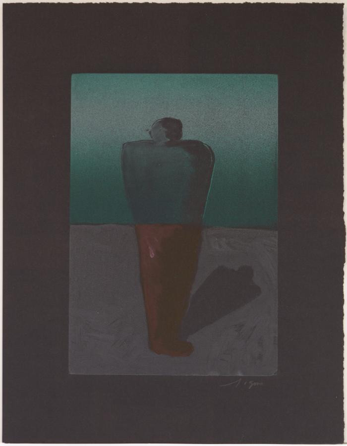 Richard Gins, Solitary Man, 2003, Monotype, 19x4.75""