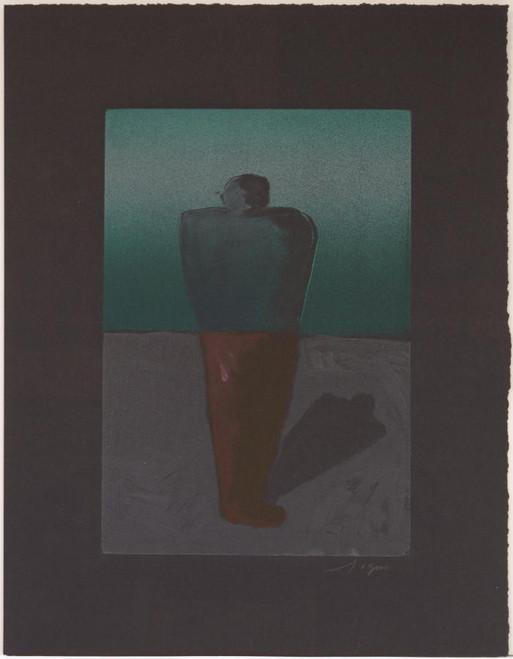"Richard Gins, Solitary Man, 2003, Monotype, 19x4.75"""