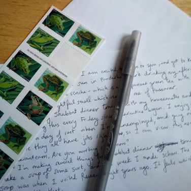 Jacob Rath, Letter Writing and Frog Stamps