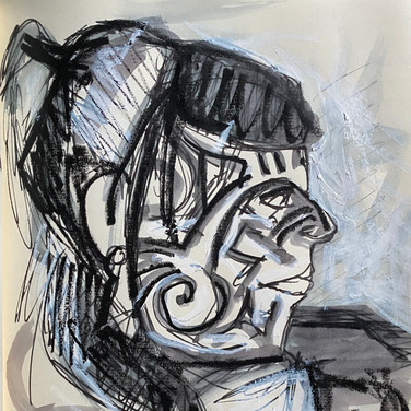 Marie Roberts, Angelica Portrait 3, Advanced Studio Zoom, Apr. 27, 2020