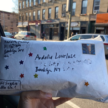 "Ardelia Lovelace, ""Art Supplies in the Mail"", 2020, photograph"