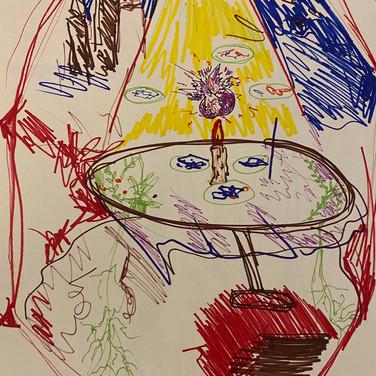 Fatima Traore, Image 4 Zoom Visualization 4/20, marker on paper