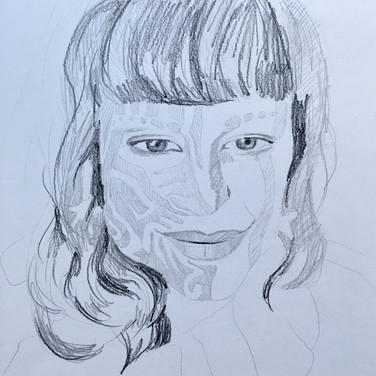 Evelyn Beliveau, Angelica Portrait 1, Advanced Studio Zoom, Apr. 27, 2020