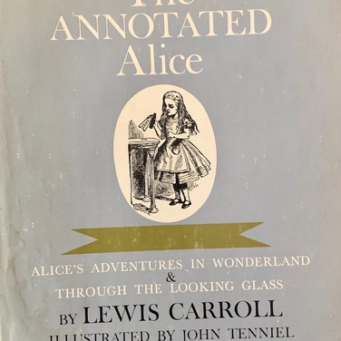The Annotated Alice Book Cover (image for Jenn from Meridith)