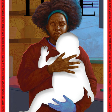 Titus Kaphar, Painting printed on cover of Time magazine, June 15, 2020