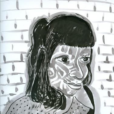 Ed Rath, Angelica Portrait 2, Advanced Studio Zoom, Apr. 27, 2020