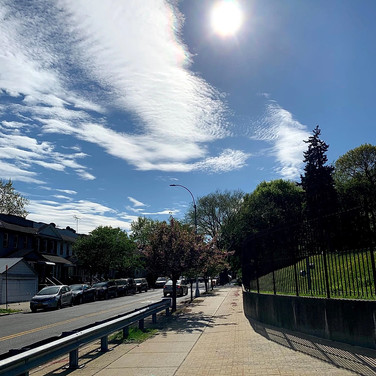 Amelia Tineo Fatima Traore, Queens Sunny Walk Sky, June 2020