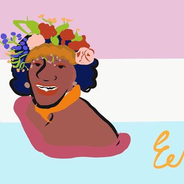 Eden Moore, Celebrating Marsha P. Johnson and Trans Rights, digital drawing
