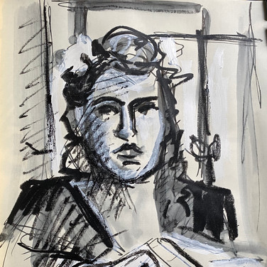 Marie Roberts, , Advanced Studio May 18, Pose 1b