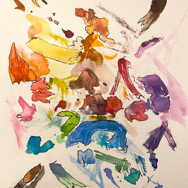 Fatima Traore, Palatte Recreation (For CREATE Color thread), 2020 ink and watercolor on paper