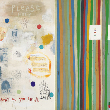 Squeak Carnwath, Everything 2, 2020, Oil and alkyd on canvas over panel