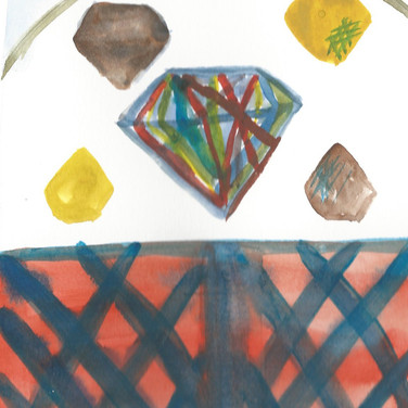 Sarah Gumgumji, Image 5 Zoom Visualization 4/20, paint on paper