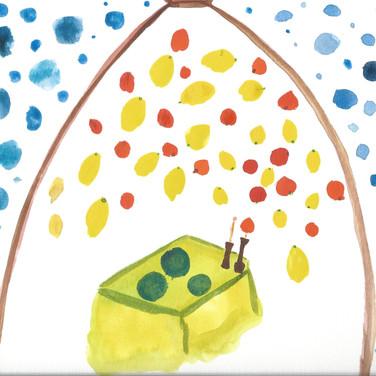 Sarah Gumgumji, Image 4 Zoom Visualization 4/20, paint on paper