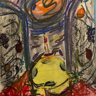 Vera Tineo, Image 4 Zoom Visualization 4/20, pastel on paper